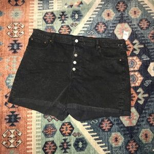 NWT Gap Black High Rise Black Jean Shorts